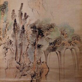 池大雅筆白糸滝図